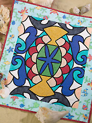 Undersea Stained Glass Quilt Pattern
