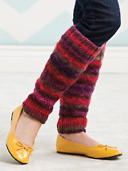 Colorfully Comfy Leg Warmers Knit Pattern