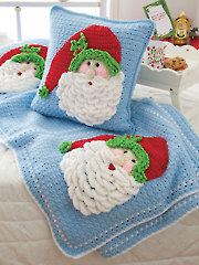 Santa Afghan & Pillow
