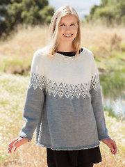 ANNIE'S SIGNATURE DESIGNS: Sierra Point Sweater Knit Pattern