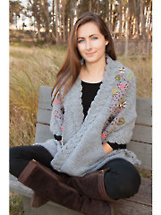 ANNIE'S SIGNATURE DESIGNS: Poetria Embroidered Wrap Crochet Pattern