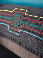 Modern Lines Throw Knit Pattern