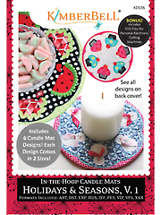 Machine Embroidery CD: In-the-Hoops Candle Mats - Holidays & Seasons