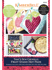 Machine Embroidery CD: That's Sew Chenille - Fruit Stand Hot Pads