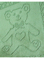 Teddy Bear Portrait Afghan