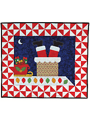 Coming Down the Chimney Wall Hanging Pattern