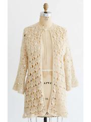 Vintage Crochet Lacy Shell