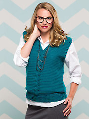 Cabled Sweater Vest