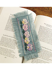 Pansies Bookmark Cross Stitch Pattern
