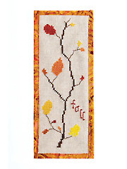 Leaf Bookmark Cross Stitch Pattern