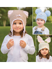 ANNIE'S SIGNATURE DESIGNS: Funny Ears Hats Crochet Pattern