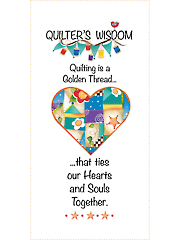 "Quilter's Wisdom Heart Panel 6"" x 12"""