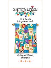 "Quilter's Wisdom Quilt Panel 6"" x 12"""