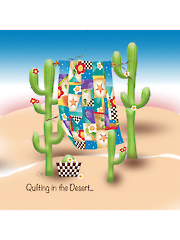 "Quilting in the Desert Panel 7 1/2"" x 7 1/2"""
