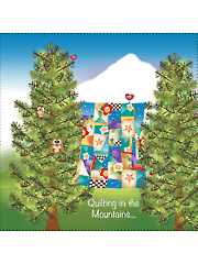 "Quilting in the Mountains Panel 7 1/2"" x 7 1/2"""