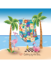 "Quilting by the Sea Panel 7 1/2"" x 7 1/2"""
