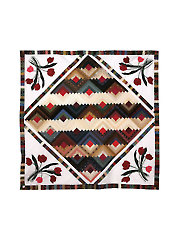 Log Cabin Tulips Table Runner Pattern