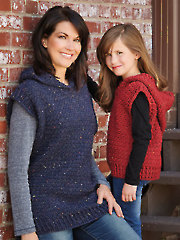 ANNIE'S SIGNATURE DESIGNS: Hooded Sweater Vest Crochet Pattern