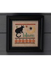 Halloween Kitty Cross Stitch Pattern