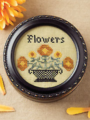 Autumn Flowers Cross Stitch Pattern