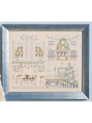 Christmas Dollhouse Cross Stitch Pattern