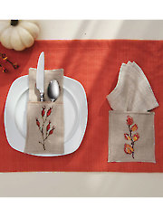 Autumn Place Mat & Flatware Pockets Cross Stitch Pattern
