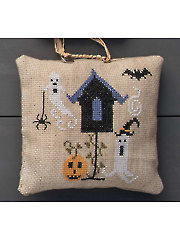 Boo Birdhouse Cross Stitch Pattern