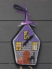 Spooky House Ornament Cross Stitch Pattern