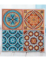 Mosaic Tiles Cross Stitch Pattern