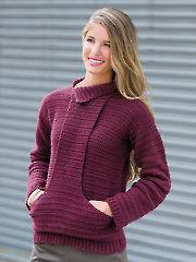Cozy Fireside Sweater Crochet Pattern