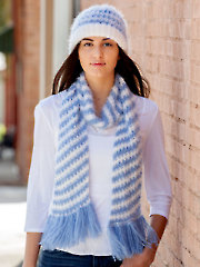 Crochet on the Double Scarf & Hat Crochet Pattern