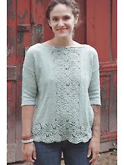 Mint Lotus Pullover Knit Pattern