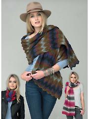 4235: Shawl & Cowl Knit Pattern