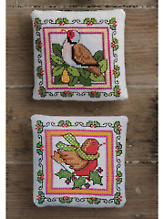 Christmas Birds Cross Stitch Pattern