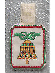 2017 Bell Ornament Cross Stitch Pattern