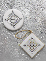 Silver & Gold Cross Stitch Pattern