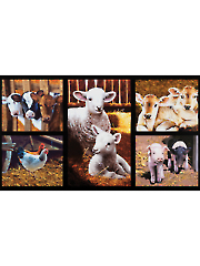 "Country Farm Animal Digital Panel 24"" x 44"""