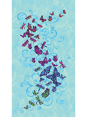 "Butterfly Panel 24"" x 44"""