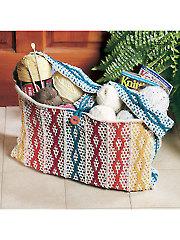 Rainbow Tote Knit Pattern