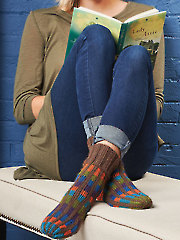Rainy Day Reading Socks Knit Pattern
