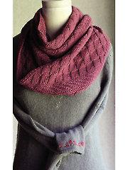 Slanted Gansey Cowl Knit Pattern