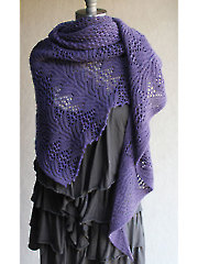 Water Hyacinth Shawl Knit Pattern
