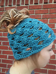 Lacy Messy Bun Hat
