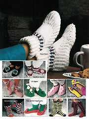 Simple Slippers In Crochet