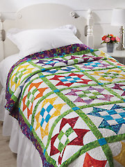 EXCLUSIVELY ANNIE'S QUILT DESIGNS: Nine-Patch Star Flower Quilt Pattern