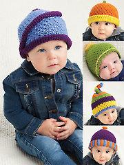 Tubular Finis Baby Caps Crochet Pattern
