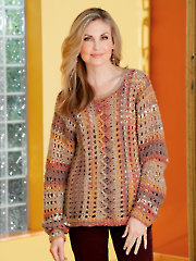 Painted Mesh Pullover Crochet Pattern