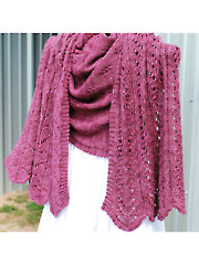 Plumlisious Shawl Knit Pattern