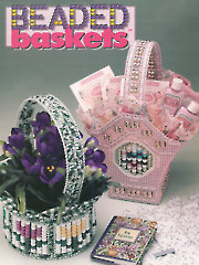 Plastic Canvas Beaded Baskets