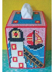 Dockside Lighthouse Tissue Topper